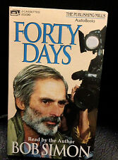 Bob Simon reads Forty Days rare audio book 2 cassette tapes 1992