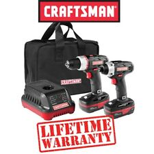 New CRAFTSMAN C3 19.2V Cordless Drill COMBO w Impact Driver Li BATTERY & CHARGER