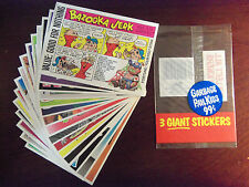1985 Garbage Pail Kids Giant Stickers 2 Complete Set in Near Mint condition!!!