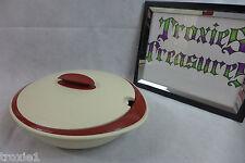 Tupperware Open House Insulated Oval Serving Bowl Set Small Cinnamon Cream Demo