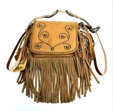 Paisley Genuine Leather Purse Leather Fringe Western Country Cowgirl Clutch