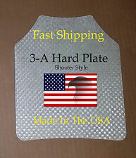 """Level III-A 8""""x10"""" Bullet proof Vest / Backpack plate Shooter Style / 3-A"""