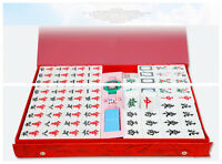 5.5KG Heavy 144 White Tiles Traditional Chinese Mahjong Rare Game Set Gift Box