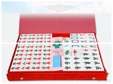 144 Tiles MahJong Set  Portable Mahjong Traditional Chinese Toy With Gift Box