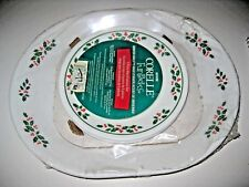 NOS~Vtg 1995 CORELLE Corning~WINTER HOLLY~Fun Pack 5 Piece HORS D'OEUVRE Set~NIP