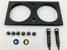 NEW 81-93 Dodge Ram (2) Hole Gauge Pod + (2) Indicator Lights
