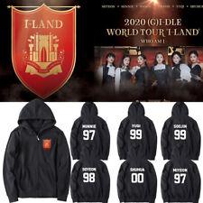 Kpop Gidle Member 2020(G)I-DLE WORLD TOUR I-LAND Concert Unisex Cap Hoodie Coat