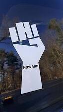 """Howard Stern FIST Car Decal / Sticker - White 8"""" x 5"""" FREE SHIPPING"""