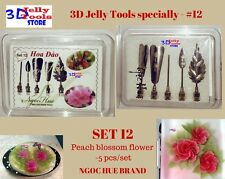 3D Gelatin Tools specially -Type 12- Peach blossom flower -5 pcs- 3D Jelly Tools