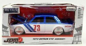1:24 1973 Datsun 510 Widebody -- Blue/White -- JADA