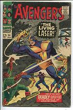 Avengers #34 - The Living Laser! Captain America  Hawkeye Cvr - 1966 (Grade 3.5)