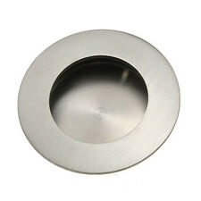 Polished Stainless Steel Door Handle Flush Recessed Pull Satin + Fixing Scr P7Y6
