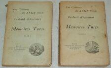 Godard d'Aucourt MEMOIRES TURCS complet 2 t. Flammarion ill. Milio libertinage
