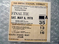 Tickets- 1978 FA Cup FINAL Ticket Arsenal v Ipswich Town (Exc, Org/Genuine*)