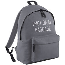 Emotional Baggage Backpack - School Work Bag Rucksack Funny Slogan