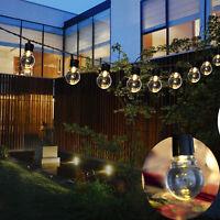 10 LED Solar String Lights Wedding Party Home Yard Garden Waterproof Bulbs