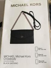 Genuine Michael Kors Crossbody Bag Black Saffiano for iPhone 5, 4S, 3GS