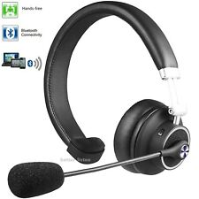 Wireless Bluetooth Headset Noise Canceling Headphones Over Head Boom with Mic