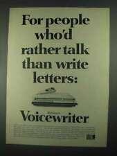 1967 Edison Voicewriter Ad - Rather Talk Than Write
