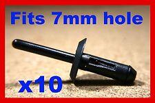 10 Plastique Vauxhall aveugles pop rivet clips fixation panneaux appuis de passage de roue