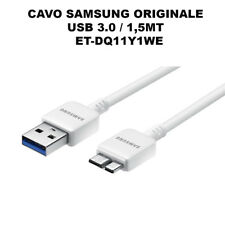 Cavo Micro USB 3.0 Originale Samsung ET-DQ11Y1WE Note 3 Galaxy S5 N9005 Dati SM