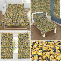 DESPICABLE ME SEA OF MINIONS BEDROOM - DUVET COVER SET CURTAINS MAT LIGHT SHADE