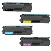 4 Pk TN-336BK TN-336C TN-336M TN-336Y Color Toner Set for Brother HL-L8250CDN