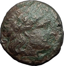 KASSANDER 305BC Macedonia Authentic Ancient Greek Coin APOLLO and TRIPOD i59689