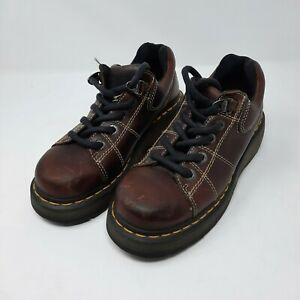 Dr Martens 9806 Brown Leather Oxford Shoes Size US Mens 7 Womens 8