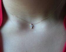 DIAMOND CROSS 14k YELLOW GOLD 0.16 CT DIAMONDS SMALL CROSS SI1 CLARITY G COLOR