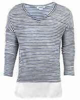 GIRLS TOP FINE KNIT STRIPE JUMPER R*VER IS*AND 3-12 YEARS BRAND NEW