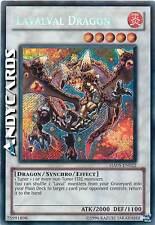 Carta INGLESE Lavalval Dragon / Drago ☻ Segreta ☻ HA05 EN022 ☻ YUGIOH ANDYCARDS