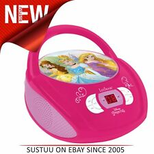 Lexibook RCD108DP Disney Princess Boombox Radio CD Player│Repeat Button│Pink│New