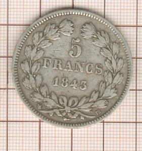 5 francs Louis Philippe 1843 BB Strasbourg