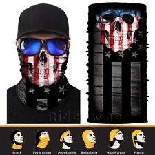 US flag Skull Face Shield Sun Mask Balaclava Neck Gaiter Bandana Neckerchief