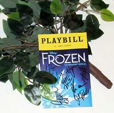 HoliBay! FROZEN Stage Used Prop & Partial Cast Signed Playbill Bundle!