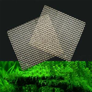 10x Aquarium Mesh Pads Stainless Steel Plants Tank Moss Pad Durable 5x5cm Acc