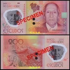 Cape Verde 200 Escudo, (2014), Polymer, SPECIMEN, UNC