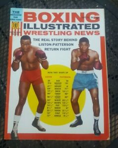 Boxing Illustrated Wrestling News. Sept 1963. Liston. Patterson. Marciano Poster