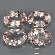 2.81 CT 4 unidades unbeh. ovales melocotón Pink morganit (Pink Esmeralda) piedras preciosas