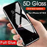 5D Curved Full Coverage Tempered Glass Screen Protector For iPhone X 7 8 Plus
