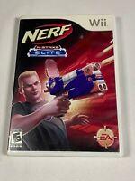 WII - Nerf N-Strike Elite (Nintendo Wii) Complete Game and Manual