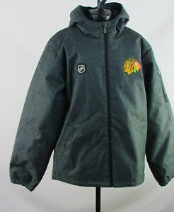 Chicago Blackhawks NHL Boy's Charcoal Hooded Jacket