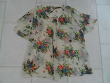 Primark Floaty Ivory Floral Summer Blouse  / Top Size 12