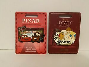 Disney Store - 2 Pins/badges- Ltd Release  - Cars And Winnie The Pooh