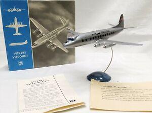 Altes Wiking Vickers Viscount Flugzeug mit OVP, Zubehör und Beschreibungen-1:200
