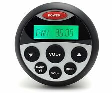 AUTORADIO MARINO IMPERMEABILE BARCA Radio FM DAB USB MP3 AUX BT TONDO BLUETOOTH
