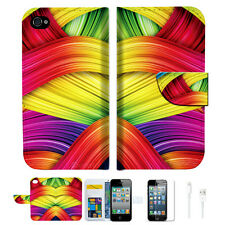 Meaningful Abstract Wallet Case Cover For Apple iPhone 4 4S -- A020