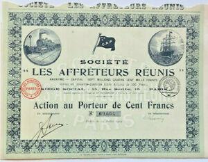 Societe Les Affreteurs Reunis > Paris France > French bond certificate share