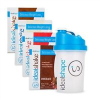 Weight loss Meal Replacement Shake Meal Packs  & 1 Shaker Bottle by idealshape